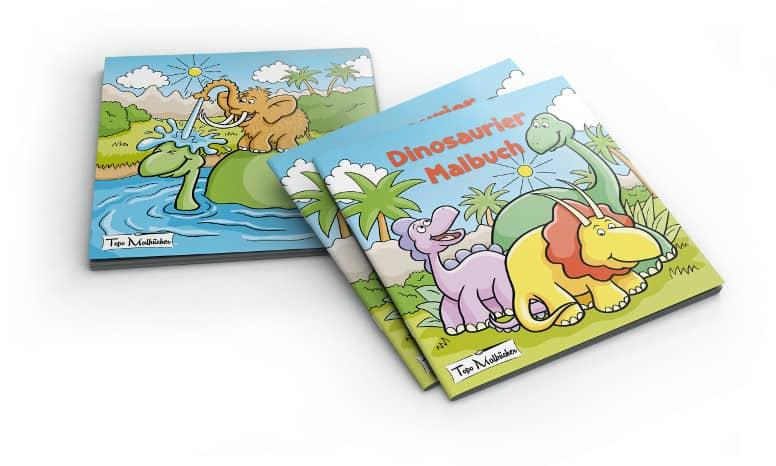 Dinosaurier Malbuch für Kinder und Erwachsene 3 Dinos
