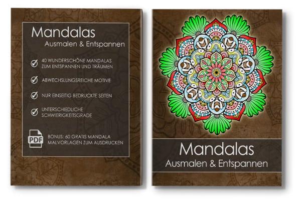 Mandala Malbuch Ausmaln & Entspannen für Erwachsene Cover mit Rücken
