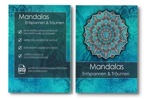 Mandala Malbuch für Erwachsene Entspannen und Träumen Cover mit Rücken