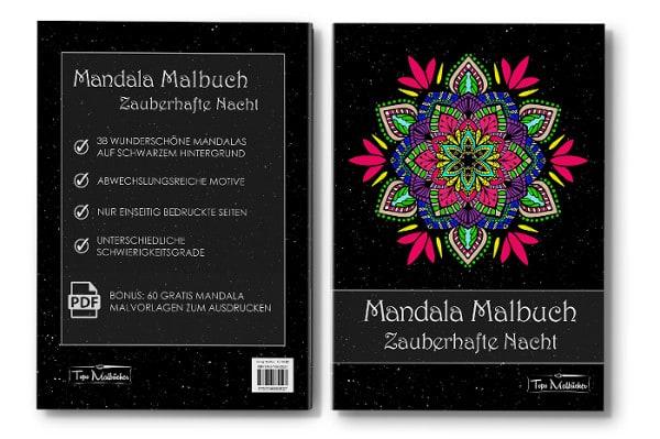 Mandala Malbuch für Erwachsene Zauberhafte Nacht Cover