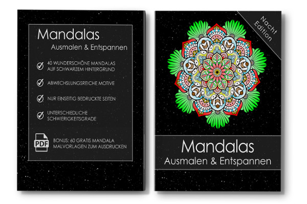 Mandalas Ausmalen & Entspannen Malbuch für Erwachsene Cover mit Rücken
