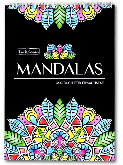 mandalas malbuch für erwachsene spiralbindung